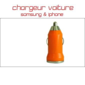chargeur voiture samsung iphone orange achat prix fnac. Black Bedroom Furniture Sets. Home Design Ideas