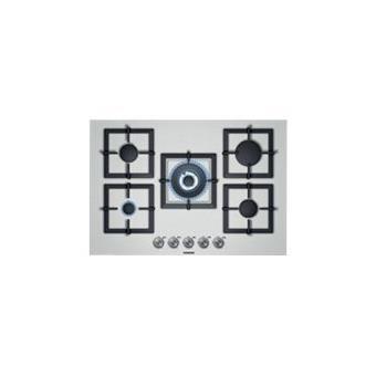 Siemens table cuisson gaz 75cm ec875qb21e inox achat - Table cuisson gaz inox ...