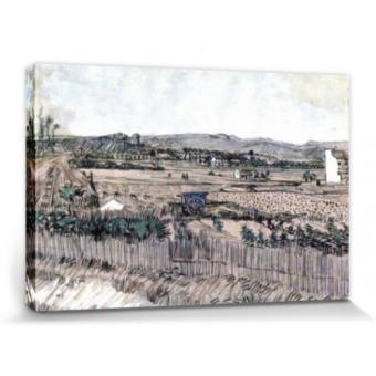 Vincent van gogh poster reproduction sur toile tendue sur for Prix toile tendue