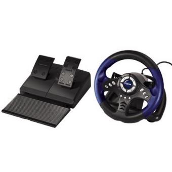 hama volant p dalier racing thunder v18 pour pc usb noir bleu achat prix fnac. Black Bedroom Furniture Sets. Home Design Ideas