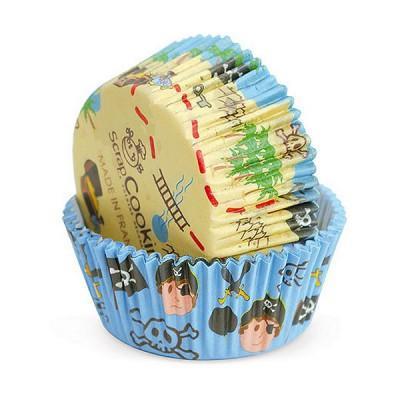 Image du produit ScrapCooking® - Moule en papier décoratif - Caissettes papier cupcakes : Pirates