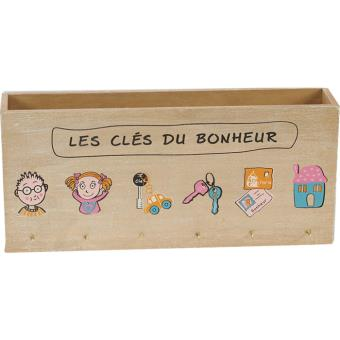 porte lettres mural range courrier porte cl s en bois top prix fnac. Black Bedroom Furniture Sets. Home Design Ideas