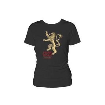 game of thrones t shirt femme lannister hear me roar noir s top prix fnac. Black Bedroom Furniture Sets. Home Design Ideas