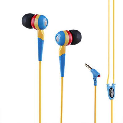 Ecouteurs intra-auriculaires multicolores pour smartphones