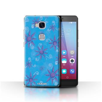 coque de stuff4 coque etui housse pour huawei honor 5x gr5 bleu violet design motif soleil. Black Bedroom Furniture Sets. Home Design Ideas