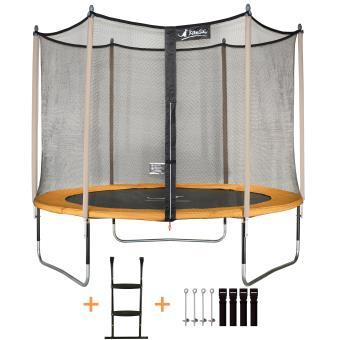 kangui trampoline de jardin 305 cm filet de s curit chelle kit d 39 ancrage jumpi pop 300. Black Bedroom Furniture Sets. Home Design Ideas