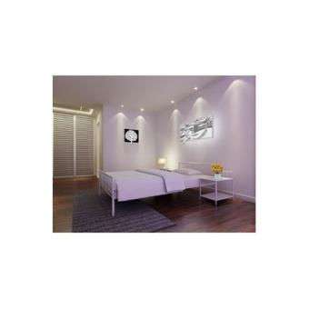 isidor lit adulte 140x190cm m tal blanc achat prix fnac. Black Bedroom Furniture Sets. Home Design Ideas