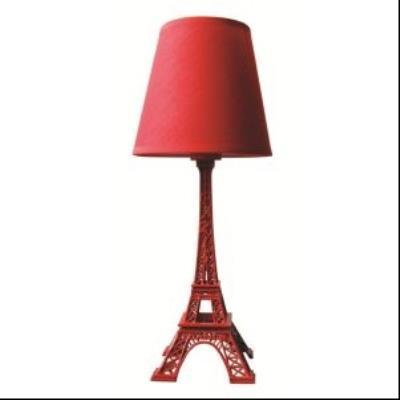 Image du produit Lampe tour eiffel rouge hauteur 38 cm