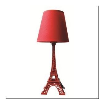 lampe tour eiffel rouge hauteur 38 cm achat prix fnac. Black Bedroom Furniture Sets. Home Design Ideas