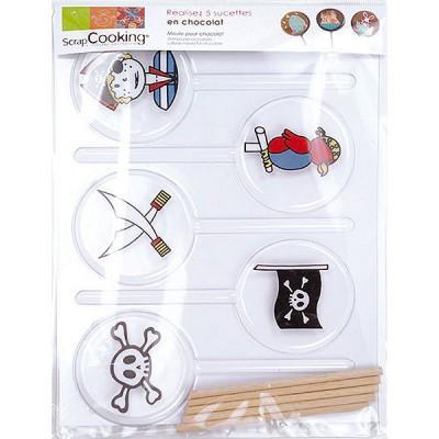 Image du produit ScrapCooking® - Moule pour chocolats - 5 sucettes Pirates