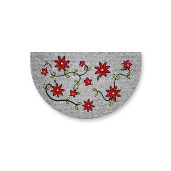 tapis demi lune aruba 45x75 cm fleurs rouge achat prix fnac. Black Bedroom Furniture Sets. Home Design Ideas