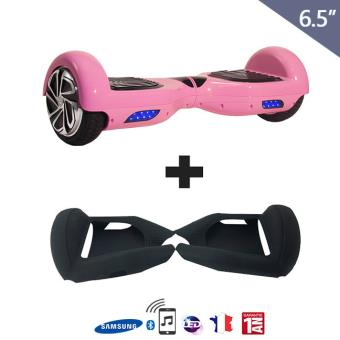 hoverboard 6 5 coque silicone noir mat bluetooth. Black Bedroom Furniture Sets. Home Design Ideas