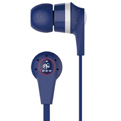 Skullcandy a concû ces écouteurs pour les vrais fans de l´équipe de France de football Technologie Supreme Sound: Découvrez la musique exactement telle qu´elle a été conçue Embouts en sillicone avec différentes tailles interchangeables pour un port person