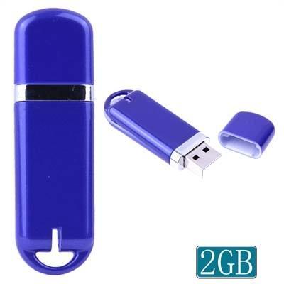 2GB USB Clé Clef USB (bleu)