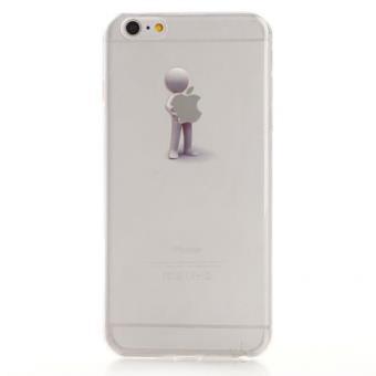 coque silicone transparente personnage pomme 1 pour apple iphone 6 plus achat prix fnac. Black Bedroom Furniture Sets. Home Design Ideas