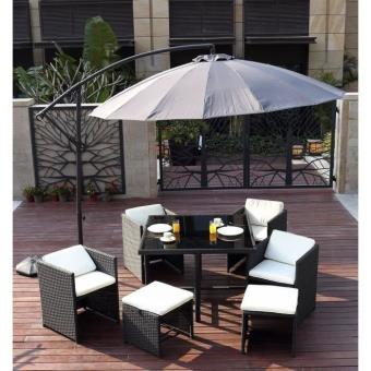 parasol d port 3x3m aluminium anthracite achat prix fnac. Black Bedroom Furniture Sets. Home Design Ideas