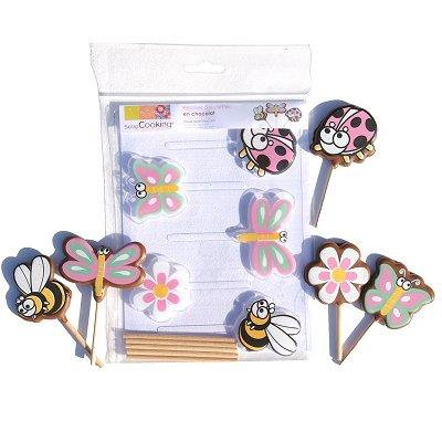 Image du produit ScrapCooking® - Moule à sucettes chocolat - Printemps x5