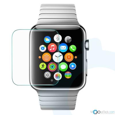 Verre de protection de très haute qualité avec traitement Oleophobic pour Apple Watch 42mm. Revêtement anti-trace de doigt (Oleophobic) Dureté de la suface 9H (Surface hardness above 9H) Verre trempé de très haute qualité (Tempered glass)