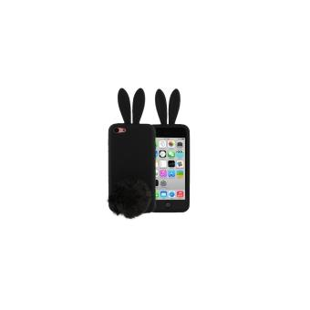 iphone 5c coque housse protection silicone lapin noir avec. Black Bedroom Furniture Sets. Home Design Ideas