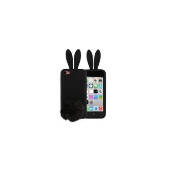 iphone 5c coque housse protection silicone lapin noir avec. Black Bedroom Furniture Sets. Home Design Ideas