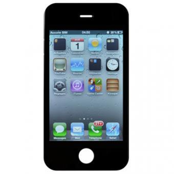 iphone 4s vitre tactile noir et cran lcd pr mont avec ch ssis achat prix fnac. Black Bedroom Furniture Sets. Home Design Ideas