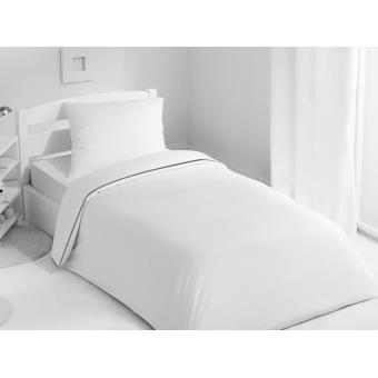 housse de couette epure 140x200 blanc granit par harmony achat prix fnac. Black Bedroom Furniture Sets. Home Design Ideas