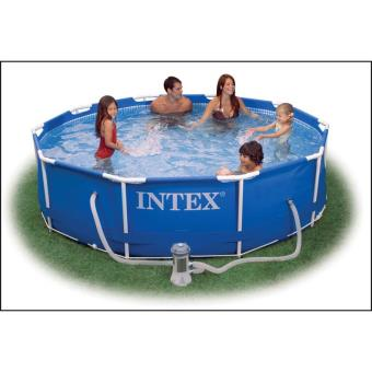Intex 56996gs kit piscine tubulaire ronde 3 66 x 0 76 m for Piscine ronde intex