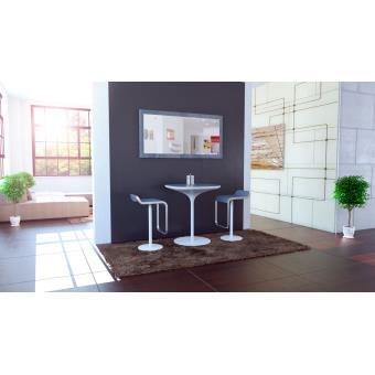Miroir mural rectangulaire gris 110 cm achat prix fnac for Miroir mural gris
