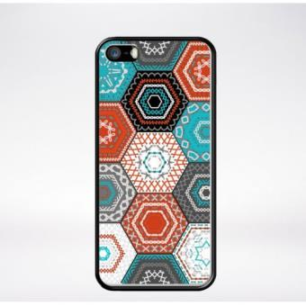 coque mosaique hexagonale compatible iphone 5s bord noir. Black Bedroom Furniture Sets. Home Design Ideas