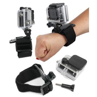 bracelet de fixation gopro gopro hero 4 black et silver achat prix fnac. Black Bedroom Furniture Sets. Home Design Ideas