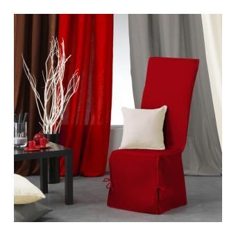housse de chaise nouettes panama couleur rouge. Black Bedroom Furniture Sets. Home Design Ideas