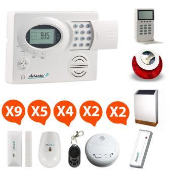 Atlantic 39 s alarme maison sans fil st iii kit 11 achat prix fnac - Prix kit alarme verisure maison ...