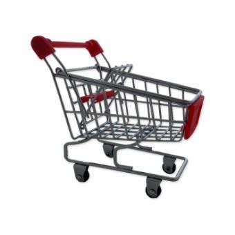 Chariot de supermarch miniature pour bureau rose d co for Accessoire maison original