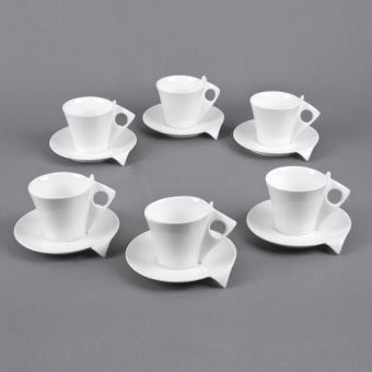 table passion coffret 6 tasses sous tasses cafe 10. Black Bedroom Furniture Sets. Home Design Ideas