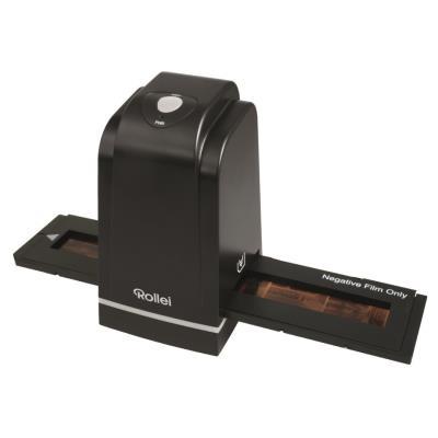 Rollei DF-S 500 SE. Résolution de numérisation optique 1800 x 1800 DPI, Profondeur daffichage dentrée de couleur 10 bit. Type de scanner Film slide, Couleur Noir. Type de capteur CMOS, Source lumineuse White LED (3x). Interfaces standards USB 2.0. Prise e
