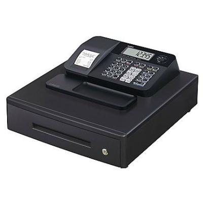 Casio SE-G1. Technologie dimpression: Transfert thermique. Écran: LCD. Source dénergie: Courant alternatif, Tension dentrée AC: 120-240 V Caractéristiques : - Type de paiement : Espèces - Nombre de codes Prix Look-Up (PLU) : 999 - Technologie dimpression