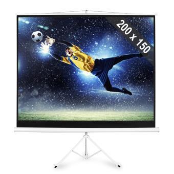 ecran de projection sur pied 200x150cm 254 cm 4 3 achat prix fnac. Black Bedroom Furniture Sets. Home Design Ideas