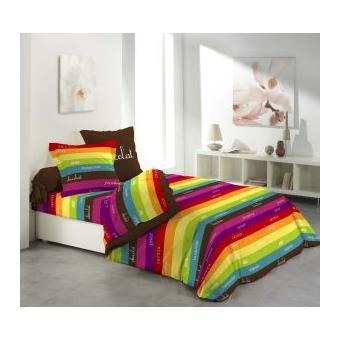 parure drap plat drap housse 2 taies d oreiller friandise achat prix fnac. Black Bedroom Furniture Sets. Home Design Ideas