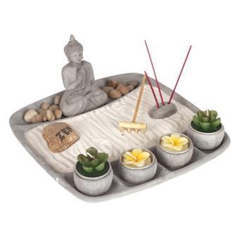 jardin zen complet objet de d coration avec accessoires bougies et encens achat prix fnac. Black Bedroom Furniture Sets. Home Design Ideas