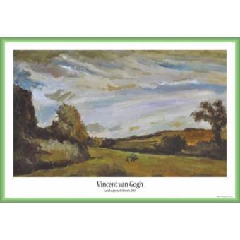 poster encadr vincent van gogh paysage avec des dunes 1883 61x91 cm cadre plastique. Black Bedroom Furniture Sets. Home Design Ideas