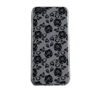 novago coque gel souple incassable avec impression motif fantaisie pour iphone 6 roses noires. Black Bedroom Furniture Sets. Home Design Ideas