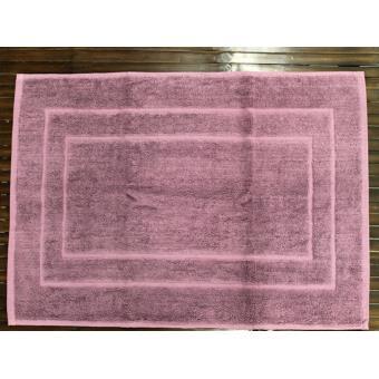 tapis de bain luxe uni 100 coton violet achat prix fnac