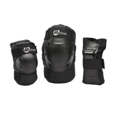 K2 Prime Pack De Protège-poignet + Coudière + Genouillère Homme Noir M pour 35€