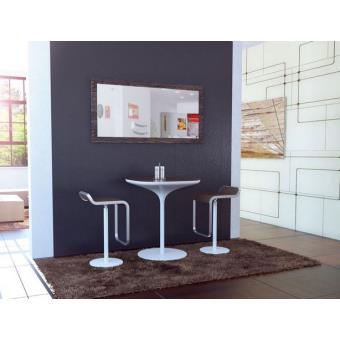 Miroir mural rectangulaire bois weng 110 cm achat for Miroir mural rectangulaire bois