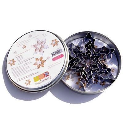 Image du produit ScrapCooking® - Boîte 5 emporte-pièces inox - Flocons