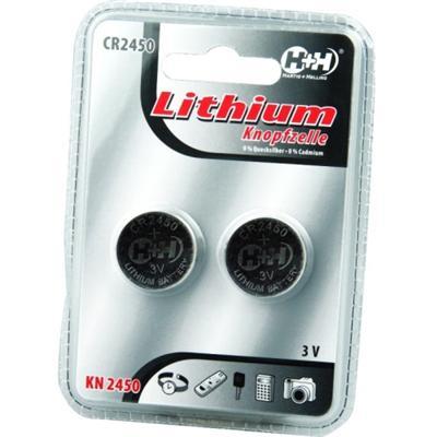 Blister contenant 2 piles boutons CR2450 Lithium, 3V. Ces piles conviennent pour de nombreux appareils de type réviel, montre, calculatrice, appareils photo, télécommandes etc.... D´une densité d´énergie élevée, elles ont une longue durée de conservation