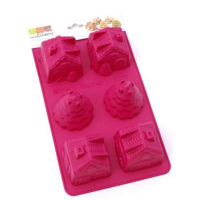 Image du produit ScrapCooking® - Moule en silicone - Moule 3D ScrapCooking® : Village de Noël