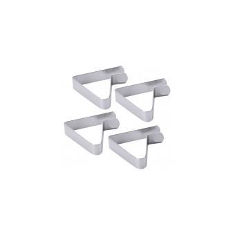 pince nappe jeu de 4 clips 5 x 4 5 cm pour table de 1cm 3 cm acheter au meilleur prix. Black Bedroom Furniture Sets. Home Design Ideas