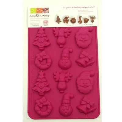 Image du produit ScrapCooking® - Moule en silicone - Moule à chocolat ScrapCooking® : Chocolats de Noël