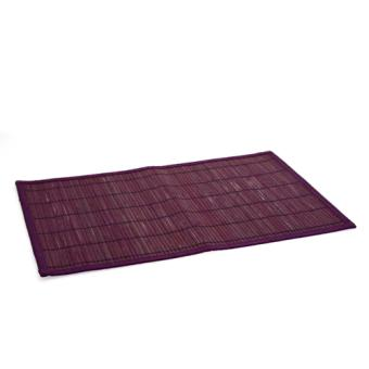 Set de table color en bambou violet achat prix fnac for Set de table violet